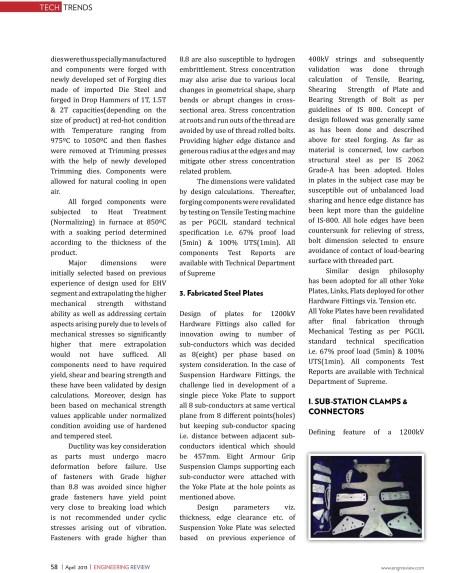 1200 KV Transmission & Distribution Hardware -Engineering Review-4