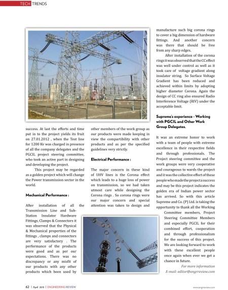 1200 KV Transmission & Distribution Hardware -Engineering Review-8